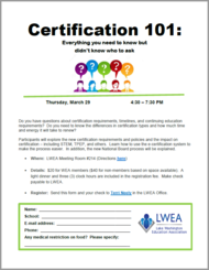 Certification 101 March - pic