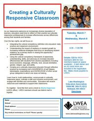 Creating a Culturally Responsive Classroom Pic