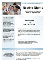 Newbie Nights Certification pic